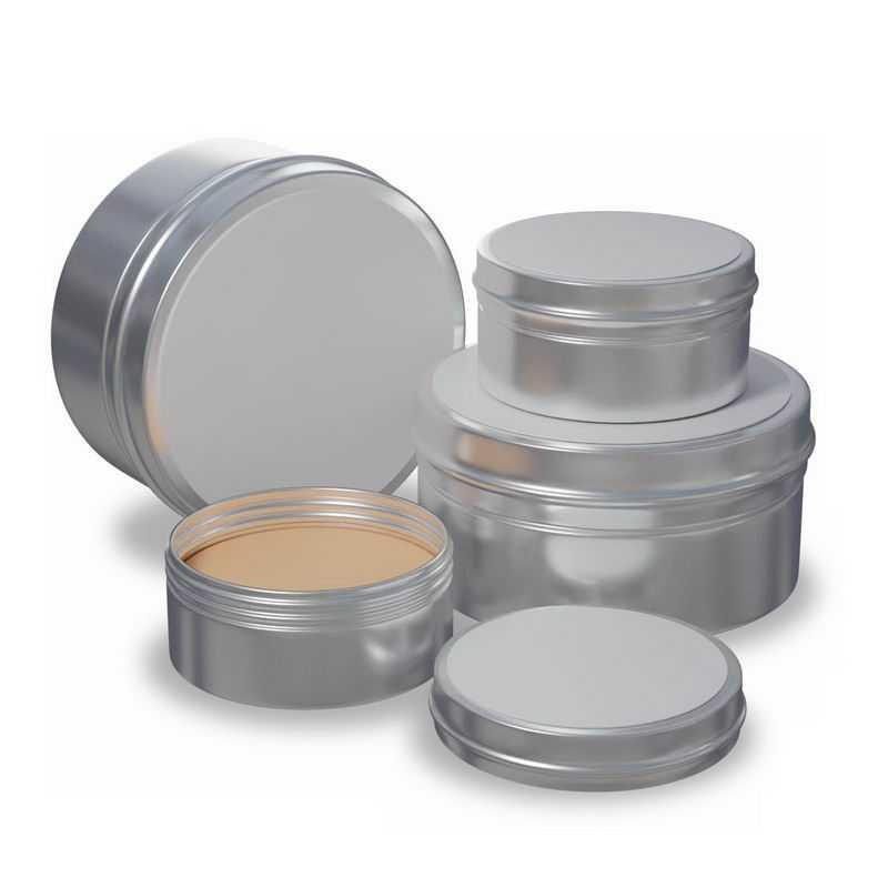 各种空白包装的化妆品金属材质的铝盒子9365721图片免抠素材