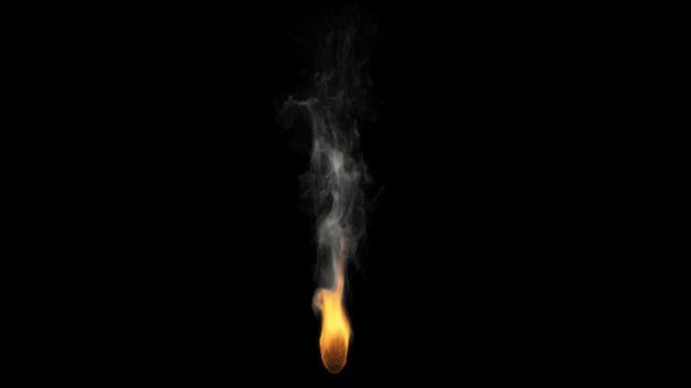 冒烟的燃烧火焰火苗效果png图片免抠素材8041276 效果元素-第1张