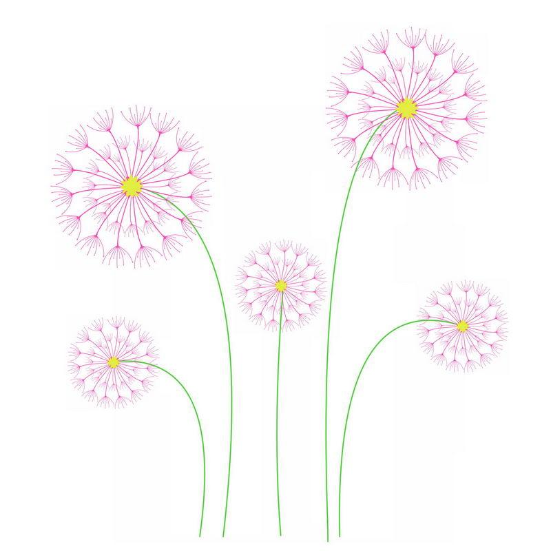 抽象画风格紫色蒲公英图案3047614图片免抠素材 生物自然-第1张
