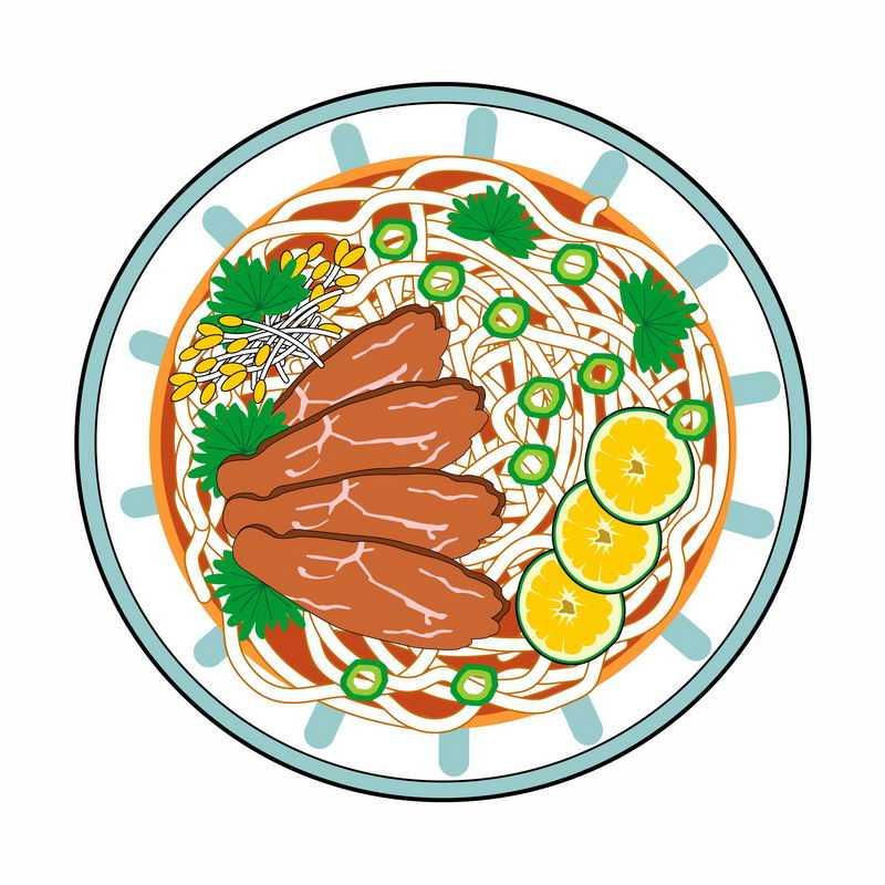 一碗美味的牛肉面手绘插画5849285图片免抠素材