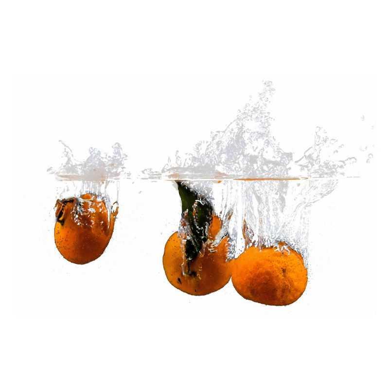 橘子掉落水中飞溅起来的半透明水花浪花水效果3474357png图片免抠素材