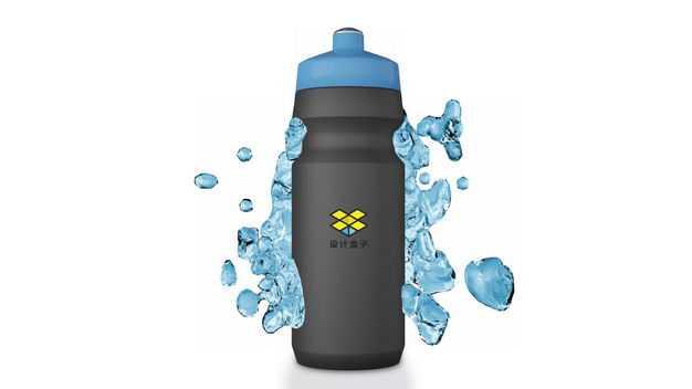 黑色304不锈钢真空保温杯运动水壶包装显示样机6617631免抠图片素材