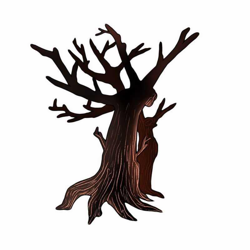 手绘风格卡通干枯大树6051779png图片免抠素材