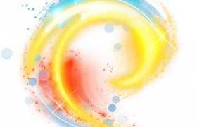 黄色红色蓝色螺旋发光光芒效果6146340png图片免抠素材