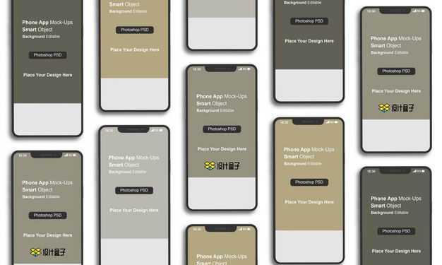 平铺的iPhone12Pro手机界面显示样机9610411图片素材