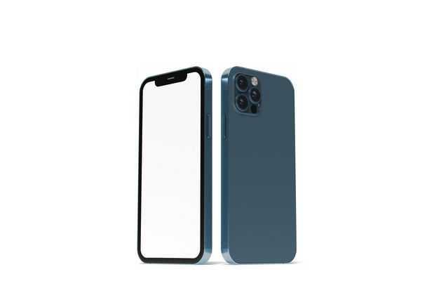 苹果手机iPhone12正反面显示样机6306532图片素材