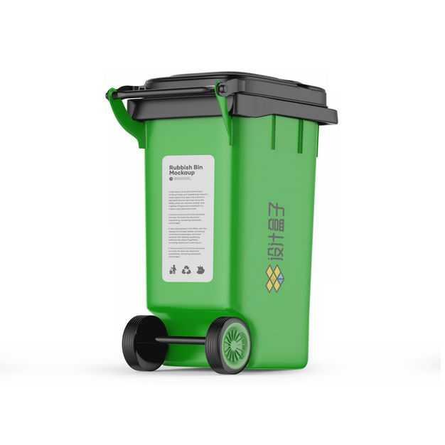 一款绿色的分类垃圾桶户外大号环卫环保可回收垃圾桶6063438免抠图片素材