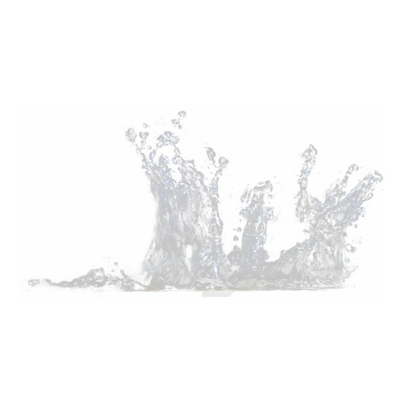 飞溅起来的半透明水花浪花水效果8260497png图片免抠素材 效果元素-第1张