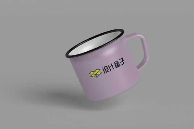 紫色的搪瓷杯子怀旧杯子显示样机5239952图片素材