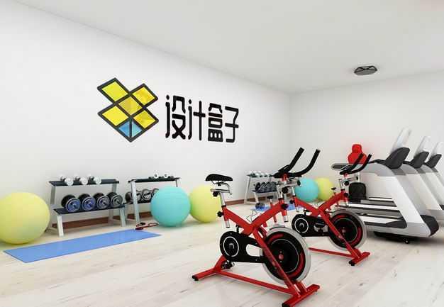 现代装修的健身房墙壁上的文字LOGO显示样机8268119图片素材