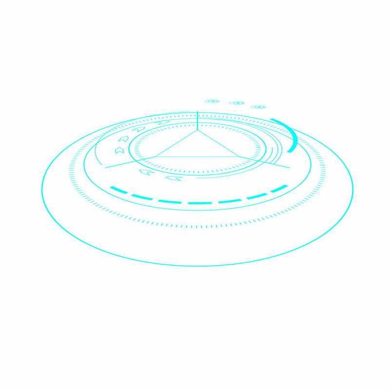 天蓝色科技科幻风格圆盘圆环装饰3425243ai矢量图片免抠素材