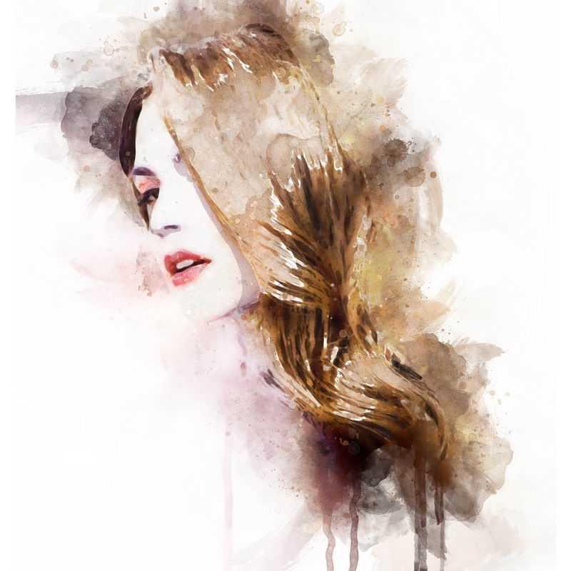 泼墨风格抽象金发美女头像2272566图片免抠素材