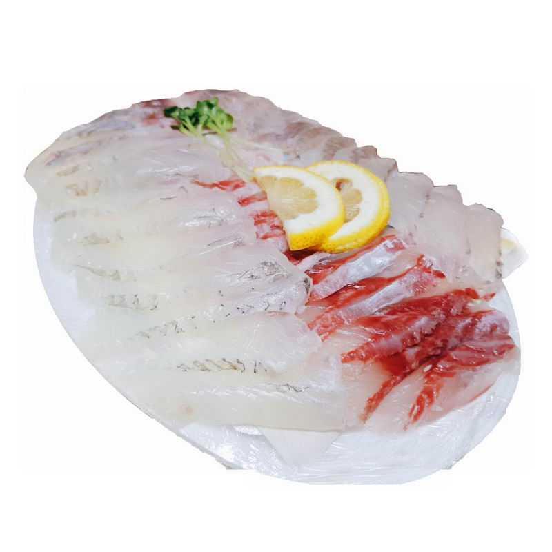 一盘美味的鱼生鱼片刺身鱼肉寿司5437741png图片免抠素材