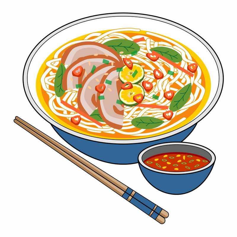 一碗美味的牛肉面手绘插画8784128图片免抠素材