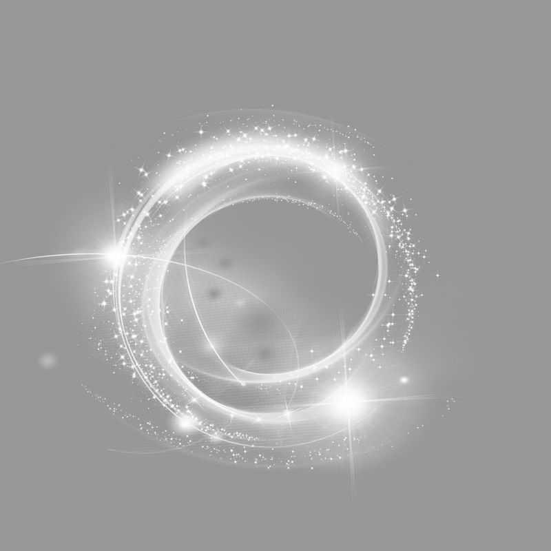 白色的螺旋发光光芒效果6194890png图片免抠素材