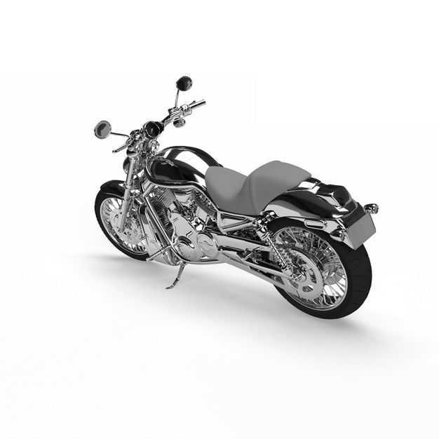 一辆不锈钢的运动摩托车重机车1905759免抠图片素材