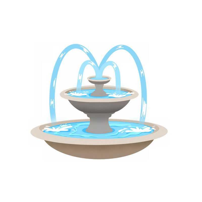 圆形喷泉园林建筑5438794图片免抠素材
