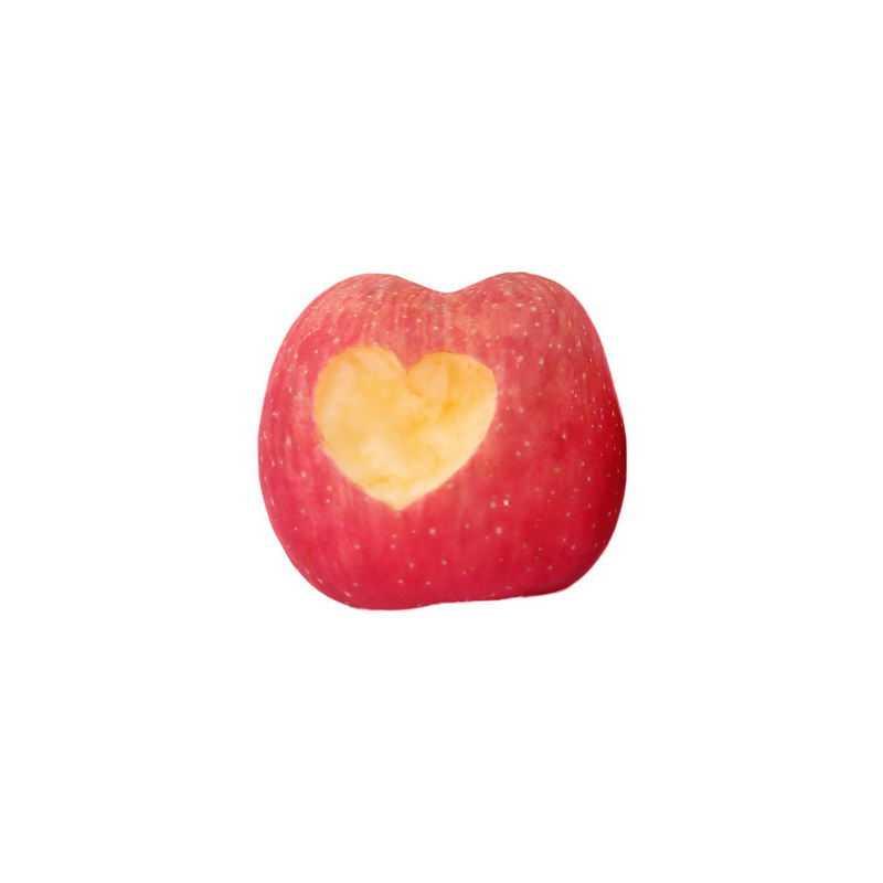 一颗红苹果上的心形咬痕8312827png图片免抠素材