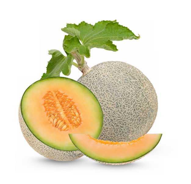 高清带叶子的甜瓜哈密瓜美味水果6878883免抠图片素材
