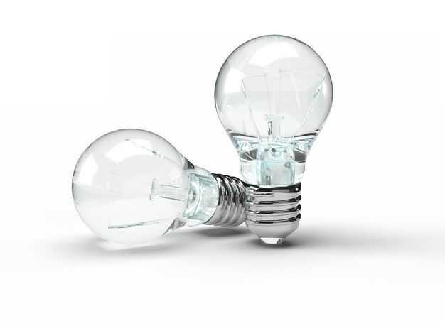 两个玻璃电灯泡1648551免抠图片素材