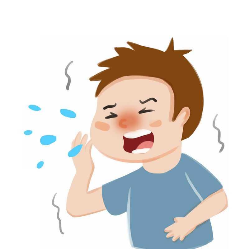 卡通男人打喷嚏感冒生病插画7454364图片免抠素材