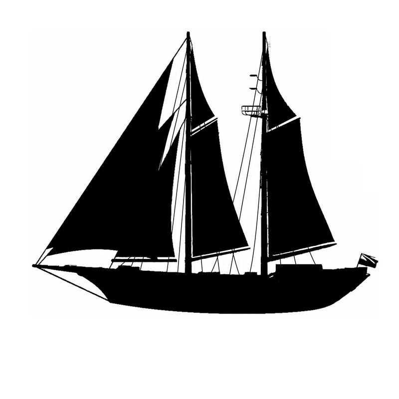 复古风格的帆船剪影4076353图片免抠素材