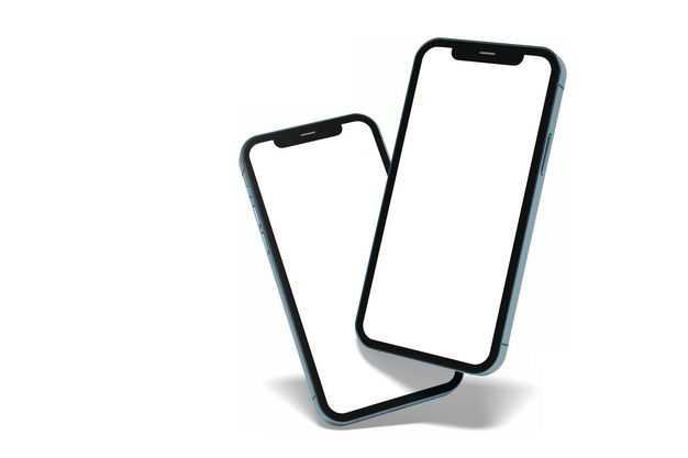 两款苹果手机iPhone12正面显示样机4719728图片素材