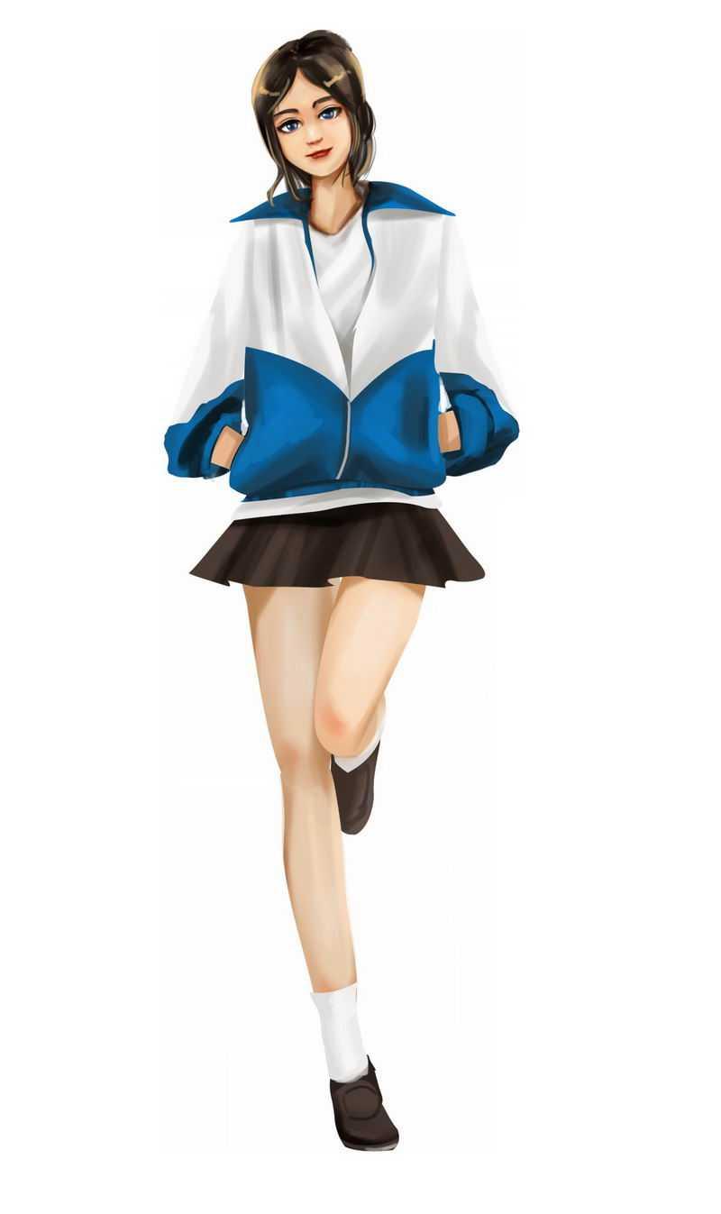 三七女生节性感身材大长腿前凸后翘的美女校服学生妹8476844图片免抠素材