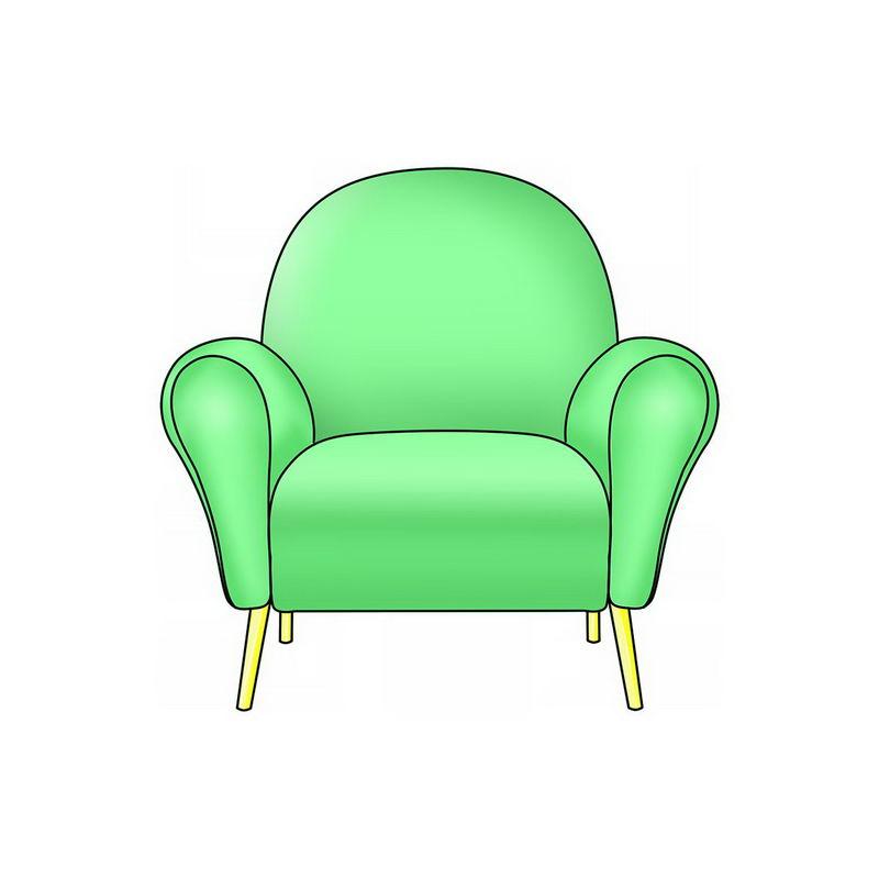 一座绿色的单人沙发2170023png图片免抠素材 建筑装修-第1张