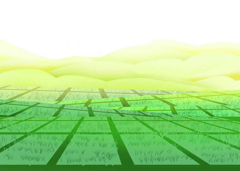 卡通风格农村草原田野田园风光图3743236图片免抠素材