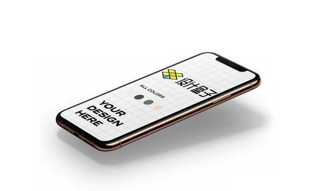 金色的苹果手机iPhone12显示样机5434253免抠图片素材