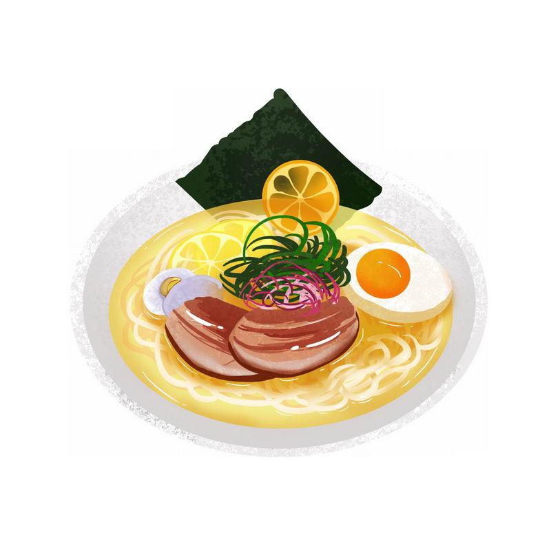 一碗鸡蛋海鲜面美味美食插画5635632图片免抠素材 生活素材-第1张