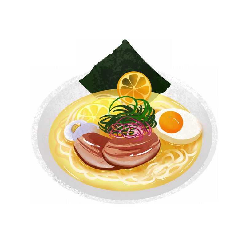 一碗鸡蛋海鲜面美味美食插画5635632图片免抠素材