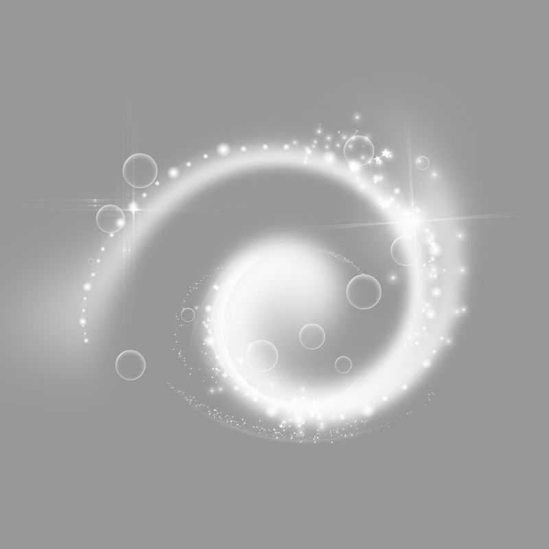 白色的漩涡星系发光光芒效果5590515png图片免抠素材