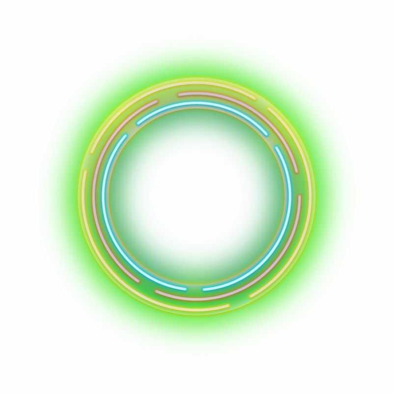出现彩色发光线条组成的圆形标题框文本框8878063图片免抠素材