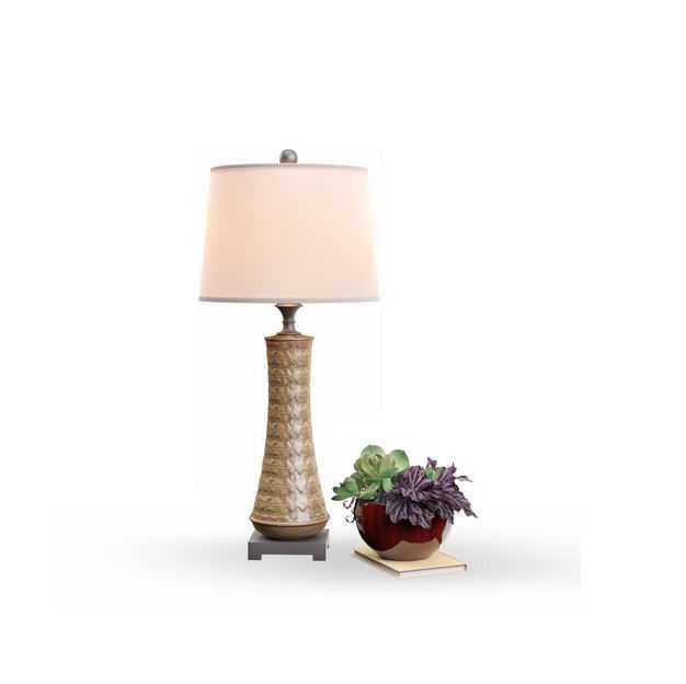 绿植盆栽植物和精美的台灯6435558免抠图片素材