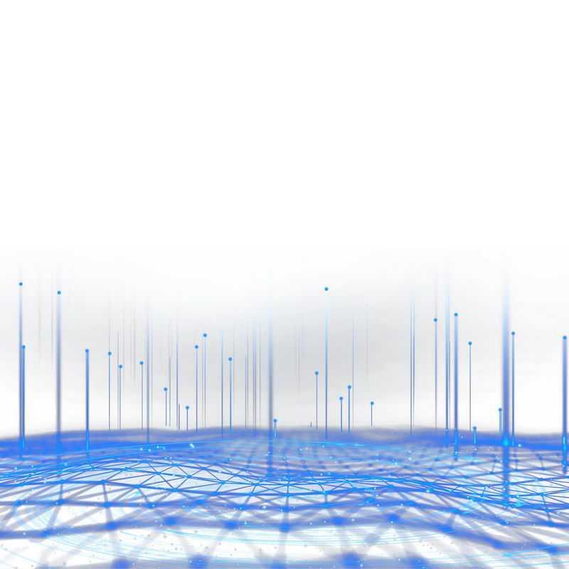 科技风格蓝色发光线条组成的经纬线装饰2988905图片免抠素材