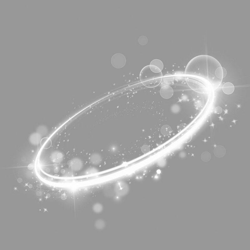 白色的螺旋发光光芒效果5141294png图片免抠素材 效果元素-第1张