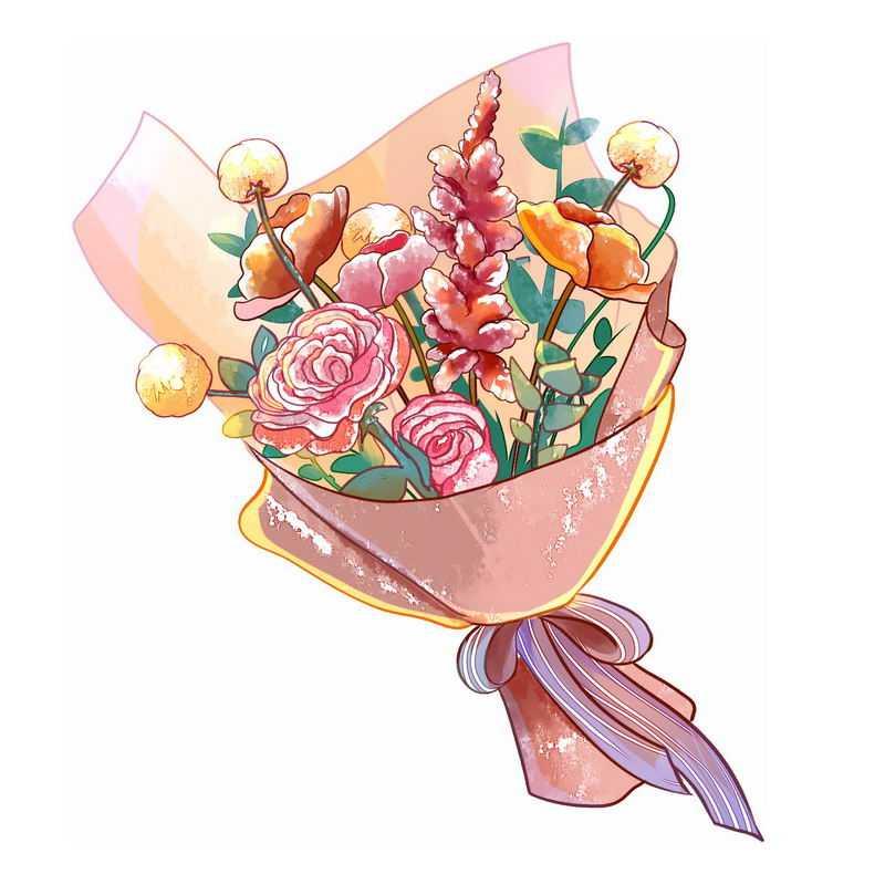 一束鲜花手绘插画7416403图片免抠素材