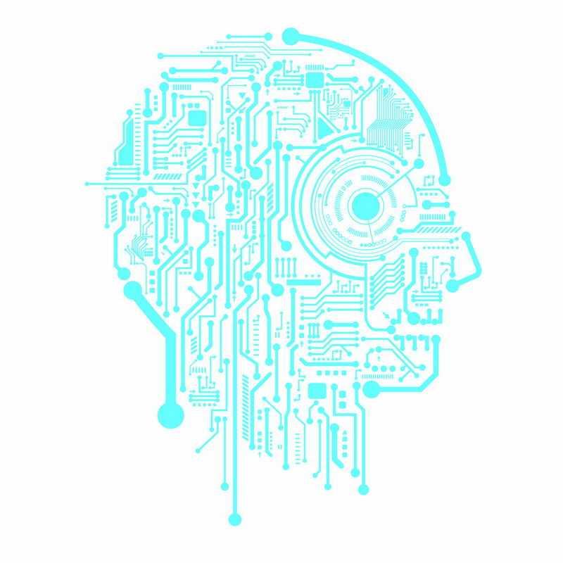 蓝色线条电路组成的人体大脑结构8935079ai矢量图片免抠素材