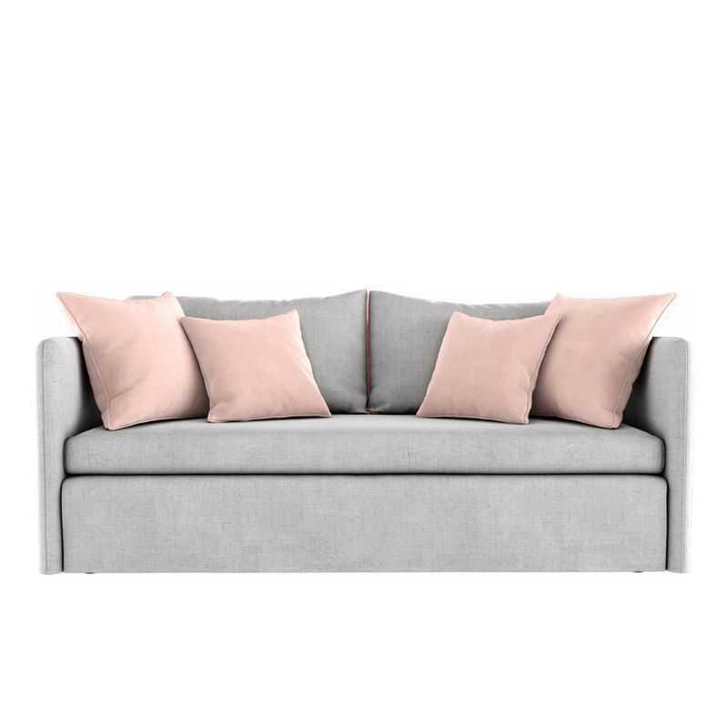 灰色的布艺沙发二人沙发家具4314535png图片免抠素材