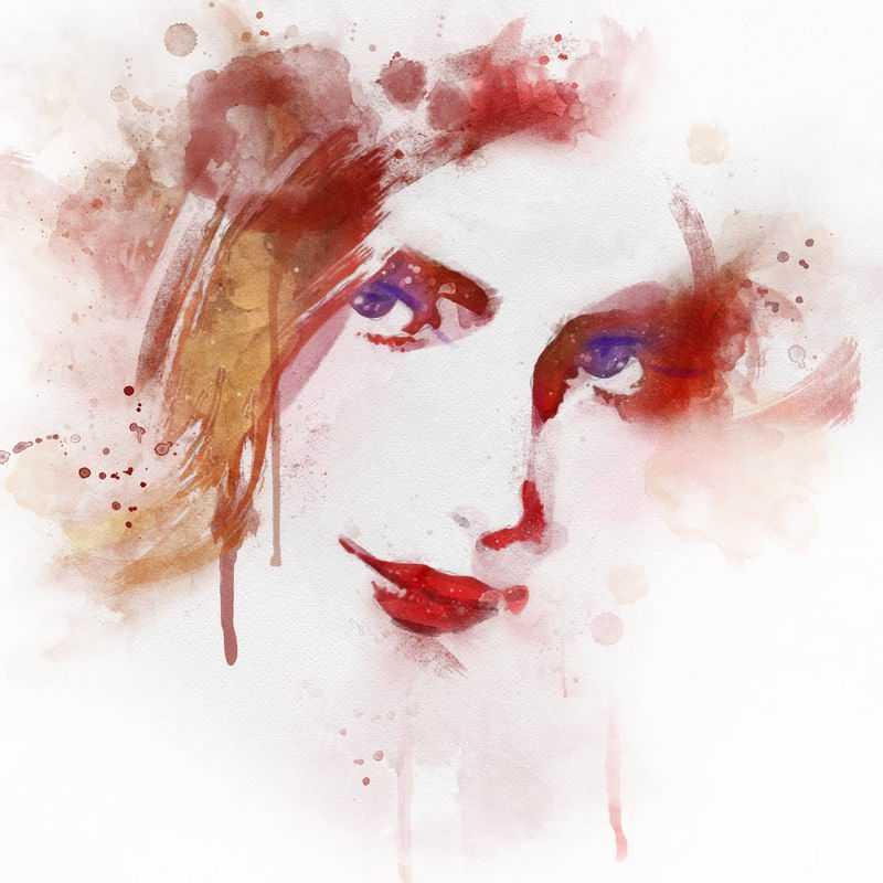 泼墨风格抽象美女头像6007051图片免抠素材