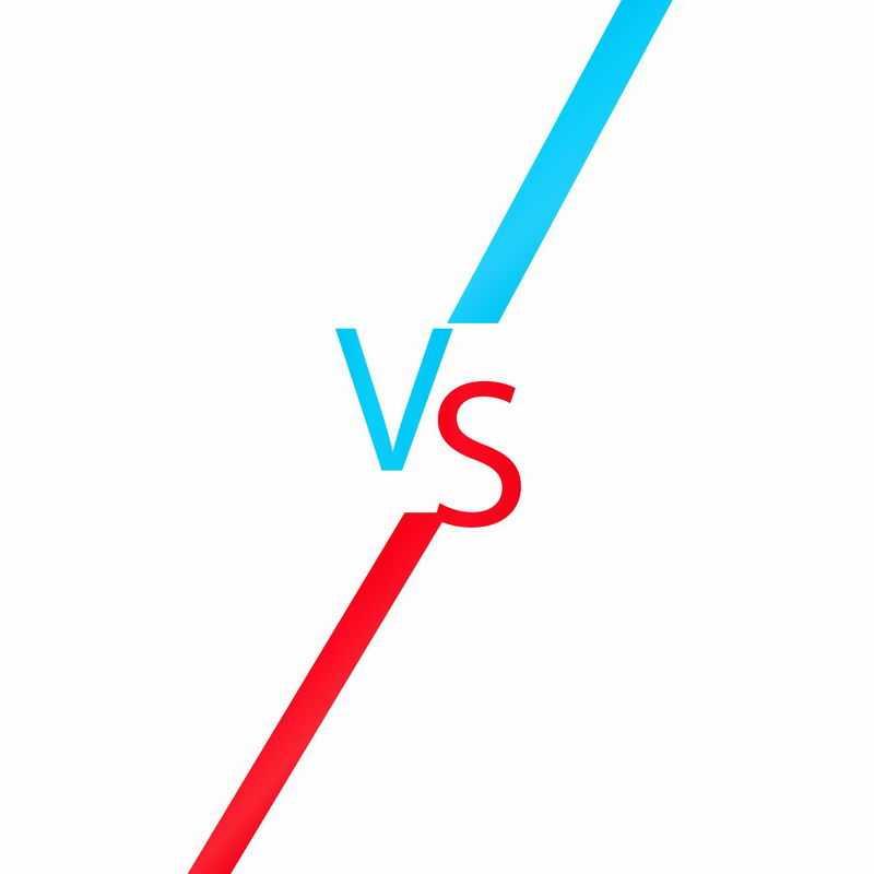 蓝色红色VS字体5173526ai矢量图片免抠素材