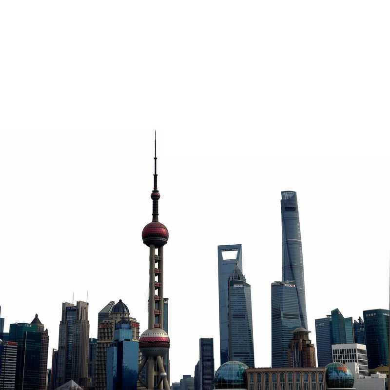 东方明珠塔上海陆家嘴建筑群高楼大厦城市建筑9973010png图片免抠素材