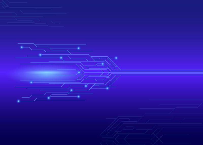 蓝色电路线条科技风格背景图5252034图片素材 背景-第1张