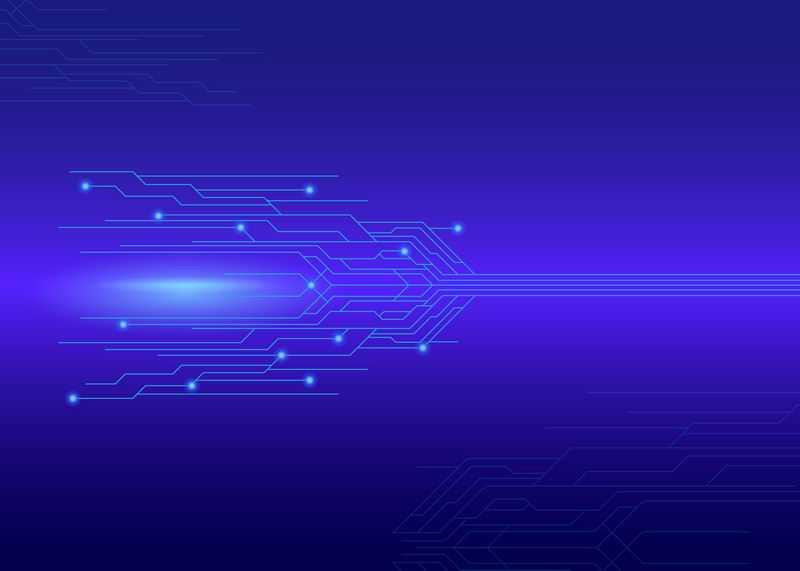 蓝色电路线条科技风格背景图5252034图片素材