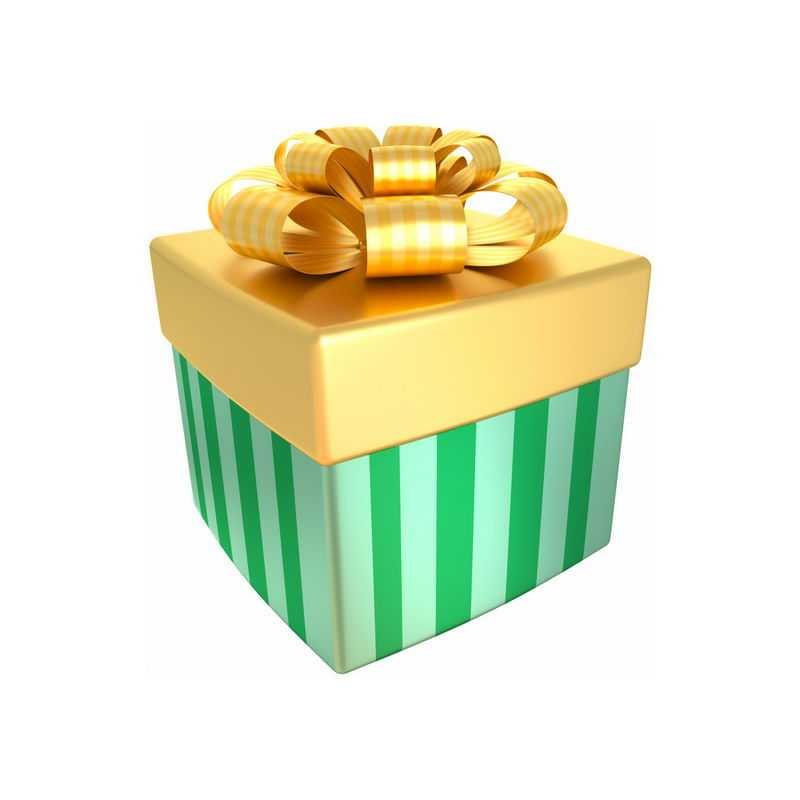 金色盖子的3D立体礼物盒9203129图片免抠素材