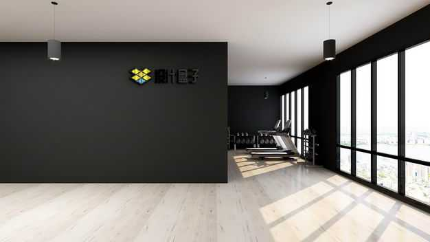现代装修的健身房墙壁上的文字LOGO显示样机6903115图片素材