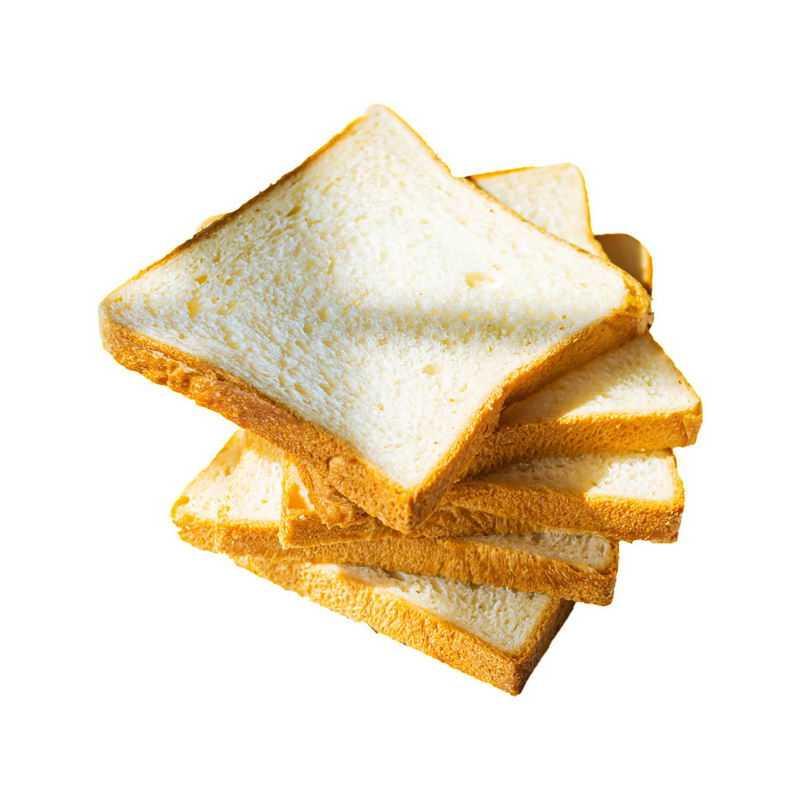 4个堆放在一起的吐司面包切片面包9244038png图片免抠素材