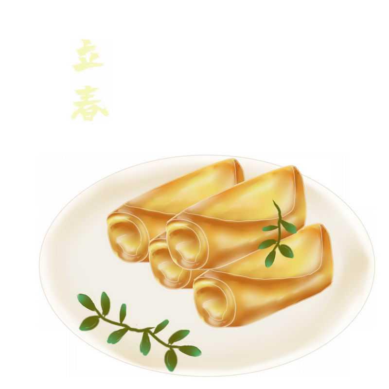 春卷传统美食立春手绘插画1182065图片免抠素材